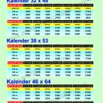 Harga Cetak Kalender Dinding termurah 2022 di Surabaya